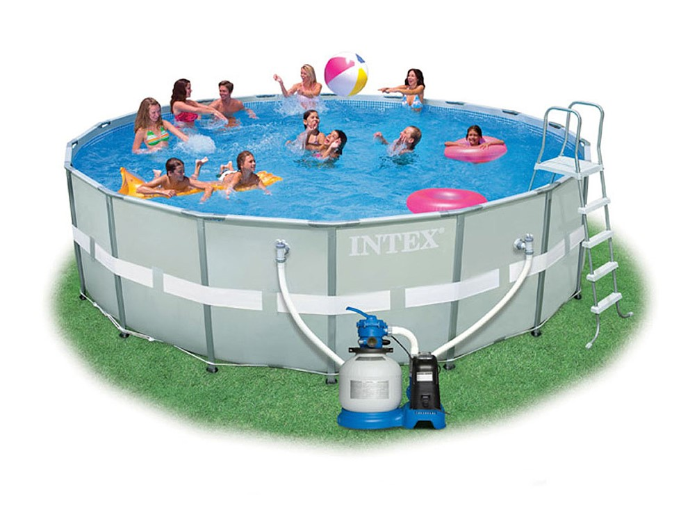 Intex Recreation Ultra Frame Pool Komplett-Set 549x132 + Chlorinator 28336