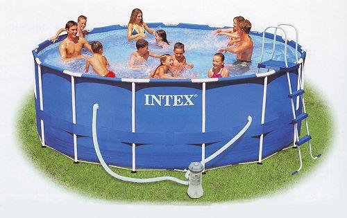 Intex Recreation Metal Frame Pool Komplett Set 457x107 ECO Set 28234 GS