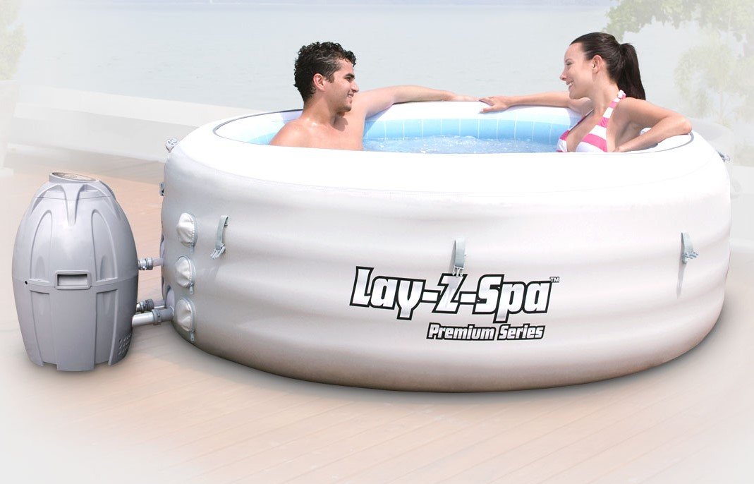 bestway jacuzzi whirlpool lay z spa vegas 54112 grau. Black Bedroom Furniture Sets. Home Design Ideas
