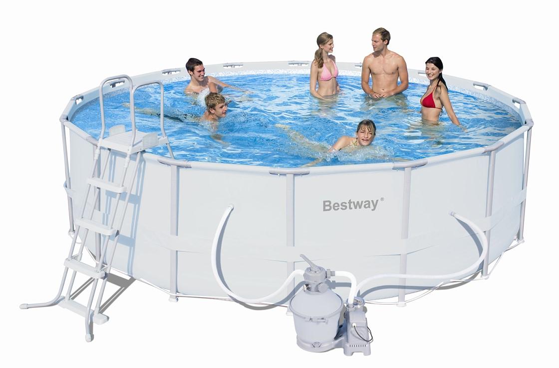 Bestway steel pro pool set 488x122 mit sandfilter 56277 - Bestway pool mit sandfilteranlage ...
