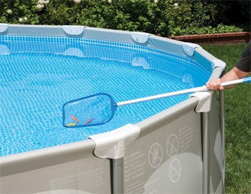 Intex pool stangen kleben