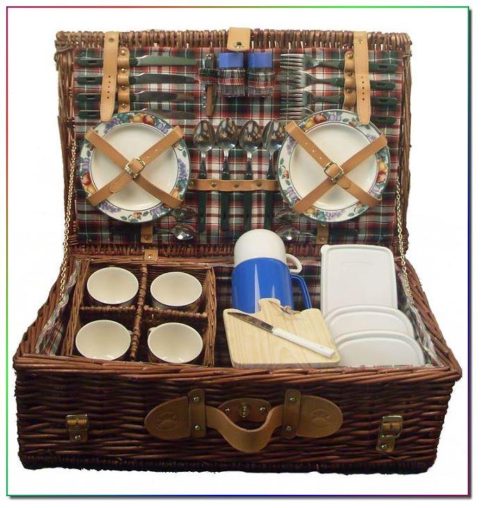 weiden picknickkorb f r 4 personen 33 teile. Black Bedroom Furniture Sets. Home Design Ideas